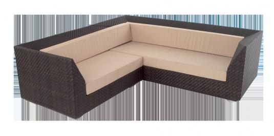 Canapé d'angle Maldives coussins inclus