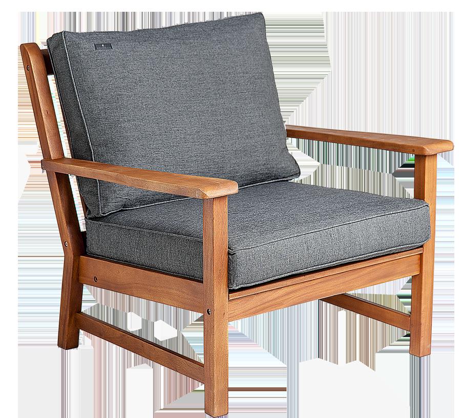 fauteuil lounge en cornis avec coussin gris anthracite ou. Black Bedroom Furniture Sets. Home Design Ideas