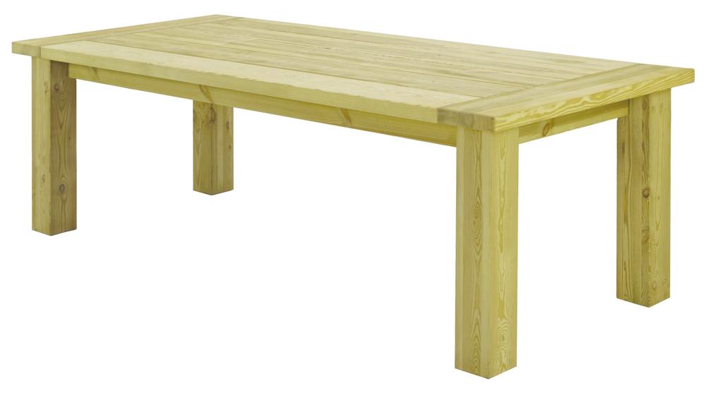 Table fermi re rustique en pin 2 3 x 1 m for Table 3 en 1