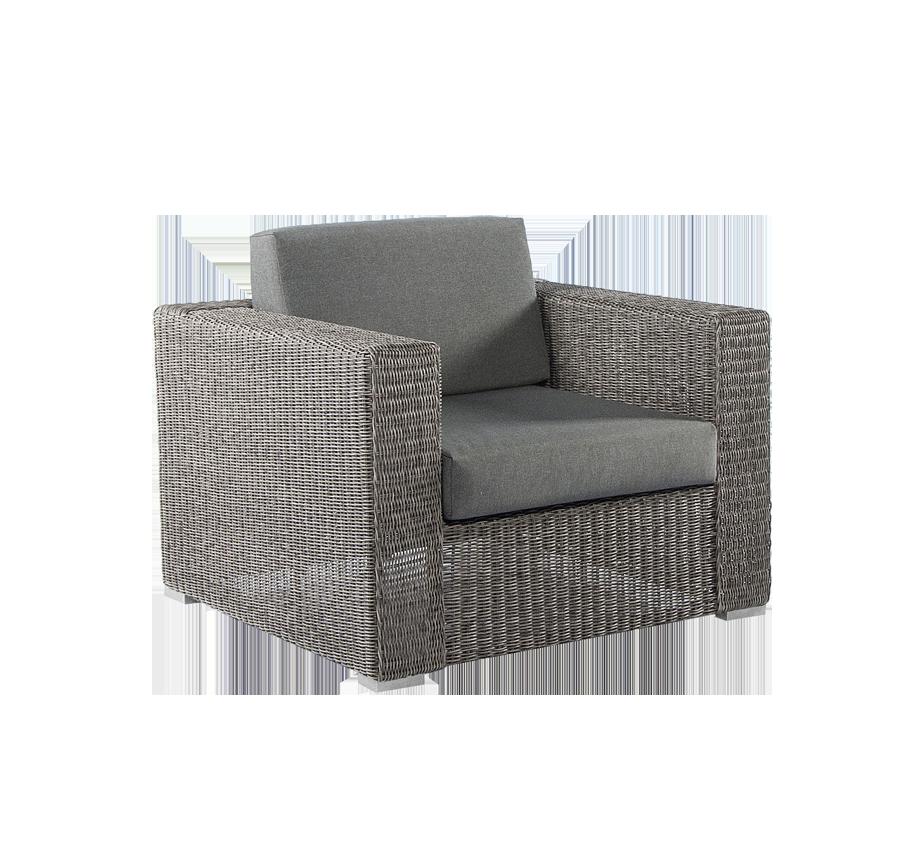 fauteuil lounge monte carlo gris vintage avec coussins. Black Bedroom Furniture Sets. Home Design Ideas