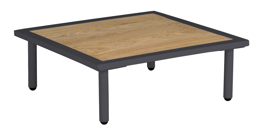Table basse carr e gris anthracite beach 70 x 70 x 22 5 cm - Table basse gris anthracite ...
