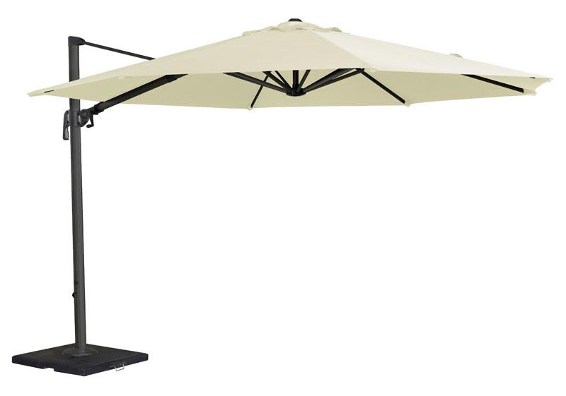 parasol rond d port en aluminium diam tre 3 5 m tres cru. Black Bedroom Furniture Sets. Home Design Ideas