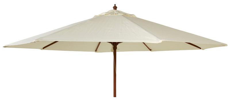 parasol bois rond diam tre 2 7 m tube 38 mm vert ecru taupe. Black Bedroom Furniture Sets. Home Design Ideas