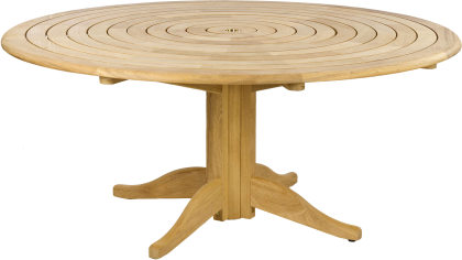 Table ronde lattes circulaires 1.75 m