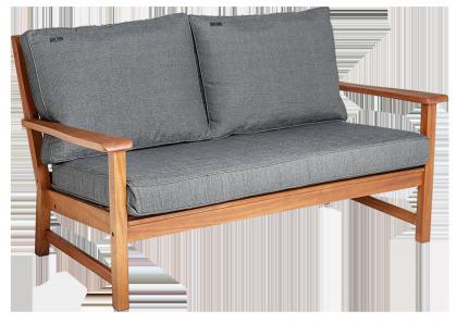 Canapé Lounge en Cornis avec coussin gris anthracite ou avoine