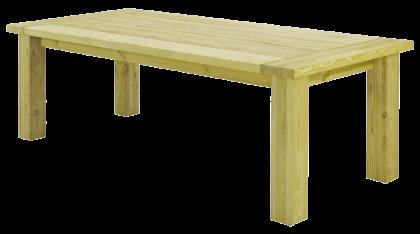 Table fermière rustique en pin 2.3 x 1 m