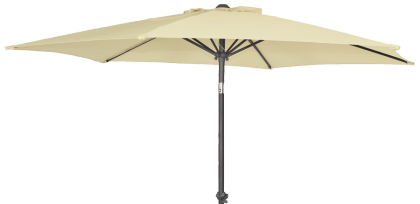 Parasol rond aluminium inclinable diamètre 2.7 m tube 34 mm écru taupe ou gris