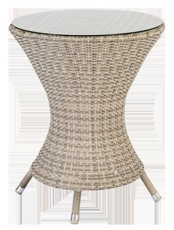 Petite table ronde Ocean Pearl diam 0.6 m sans sur-plateau verre