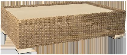 Table basse San Marino 1.25 x 0.78 m avec plateau verre