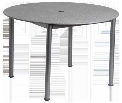 Table ronde Portofino avec plateau fibre de verre surfaçage granit