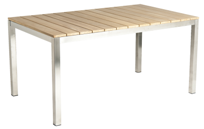 Table rectangulaire Cologne en inox et roble
