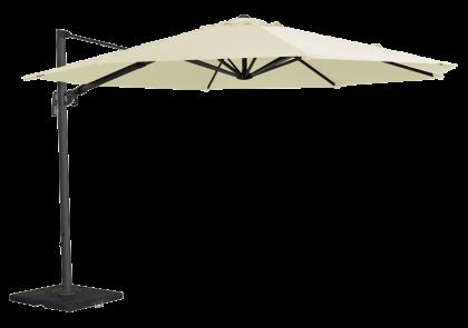Parasol rond déporté en aluminium diamètre 3.5 mètres écru ou taupe