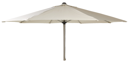 Parasol rond inox diamètre 2,5 m tube 38 mm écru ou taupe