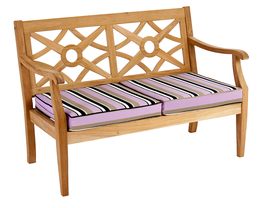 Canap heritage mahogany avec coussin ray noir taupe - Salon de jardin en bois mahogany tropical ...