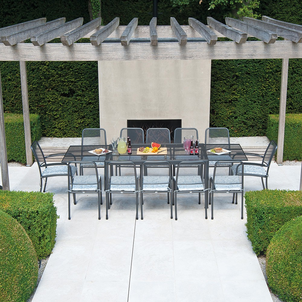 Table extensible en acier 150 270 cm tables produits for Table extensible 270