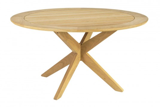 Table ronde Tivoli pied central croisé diamètre 1.25 m