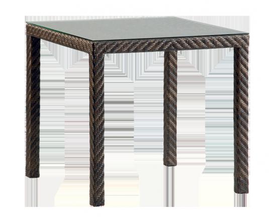 Table carrée Fiji 0.80 x 0.80 m sans plateau verre
