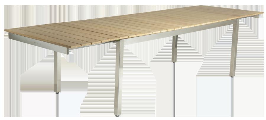 table extensible cologne en inox et roble avec rallonge int gr e. Black Bedroom Furniture Sets. Home Design Ideas
