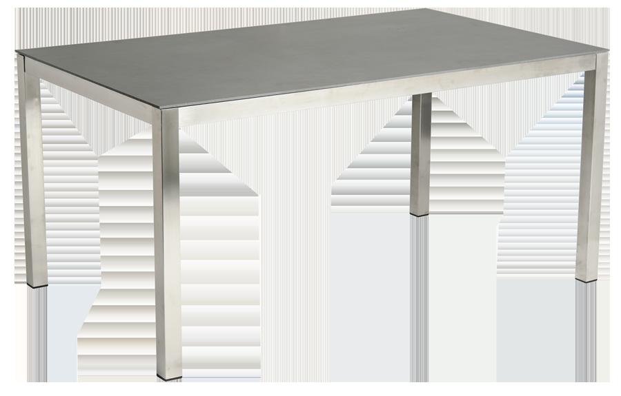Table rectangulaire cologne en inox et c ramique gris for Table en ceramique rectangulaire