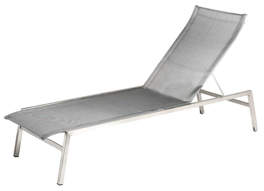 bain de soleil cologne inox et polyester gris anthracite. Black Bedroom Furniture Sets. Home Design Ideas