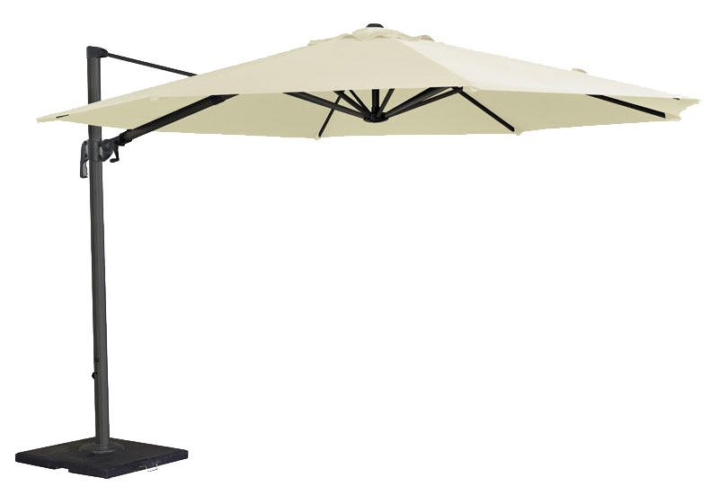 parasol rond d port en aluminium diam tre 3 5 m tres cru ou taupe. Black Bedroom Furniture Sets. Home Design Ideas