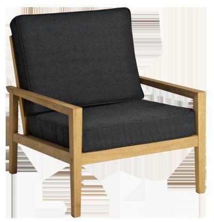Fauteuil lounge en roble avec coussin