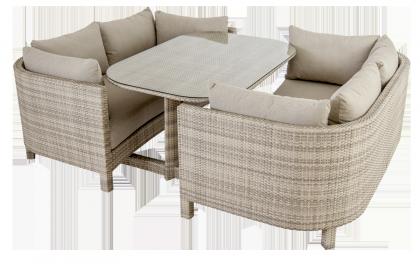 Ensemble lounge Ocean Pearl 2 canapés et une table
