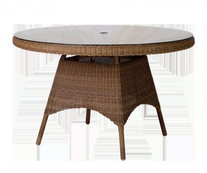 Table ronde San Marino diamètre 1.2 m sur-plateau verre
