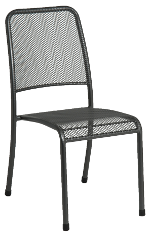 Chaise empilable Portofino en acier grise