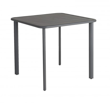Table carrée Fresco (plateau alu)