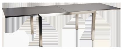 Table extensible en inox et céramique gris anthracite