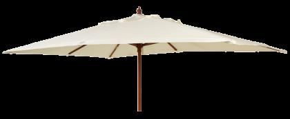 Parasol bois rectangulaire 2x3m-tube38mm-vert-ecru-taupe