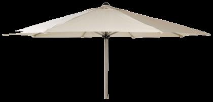 Parasol rond écru taupe noir 3 mètre poulie