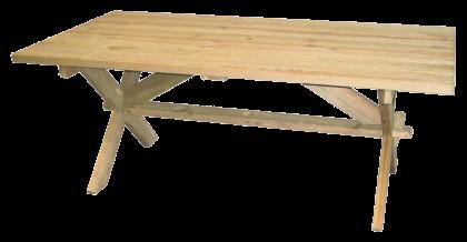 Table rectangulaire en Pin 1.9 x 1 m