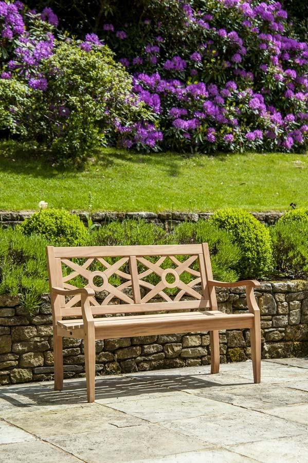 Banc heritage mahogany - Salon de jardin en bois mahogany tropical ...