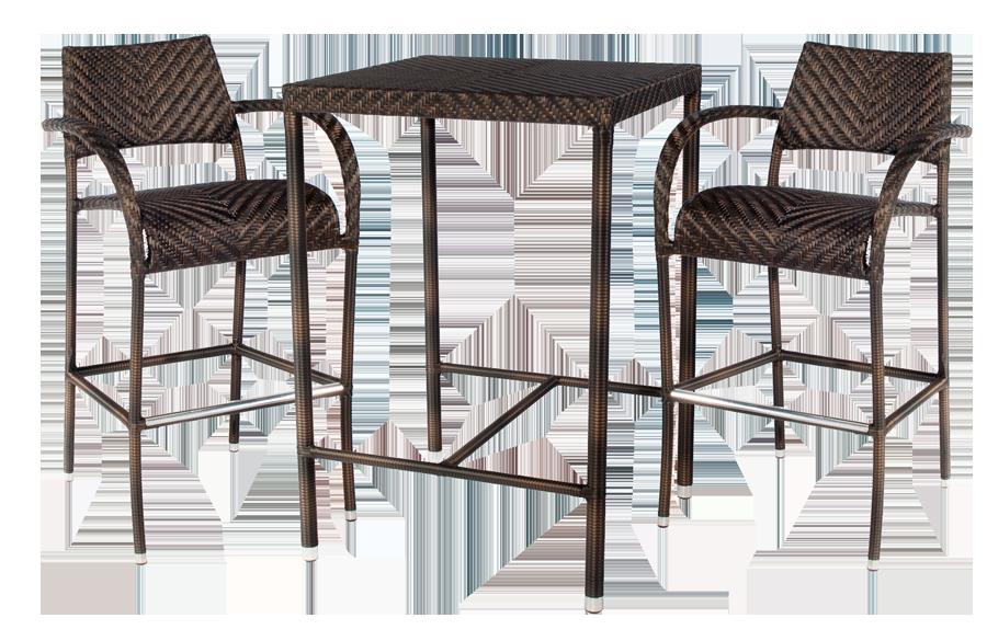 table de bar fiji avec 2 tabourets. Black Bedroom Furniture Sets. Home Design Ideas
