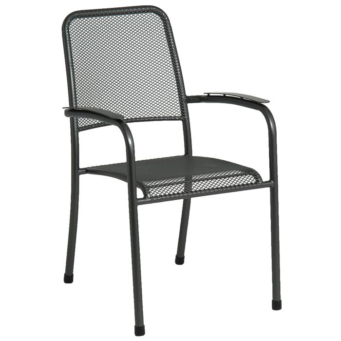 fauteuil empilable portofino en acier sans coussin. Black Bedroom Furniture Sets. Home Design Ideas